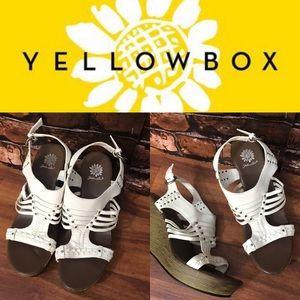 YellowBox White Sandal Wedges